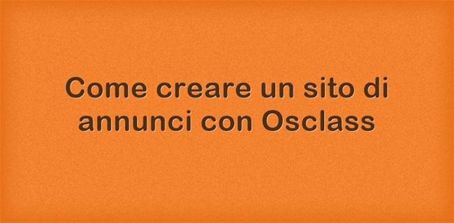 Come creare un sito di annunci con Osclass